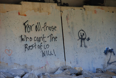 graffiti under a bridge in Boscawen, NH