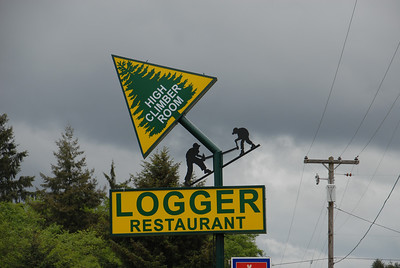 Oregon restaurant sign deep in logger country.