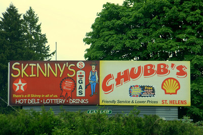 Skinny vs. Chubbs Sign - Oregon I liked it!